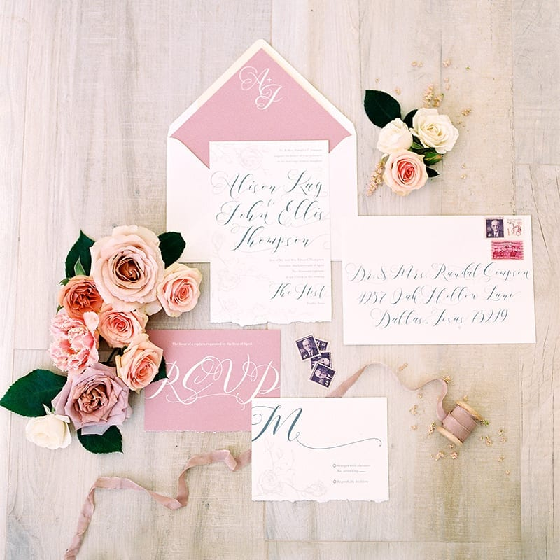 Sweet as a Rose Invitation Suite