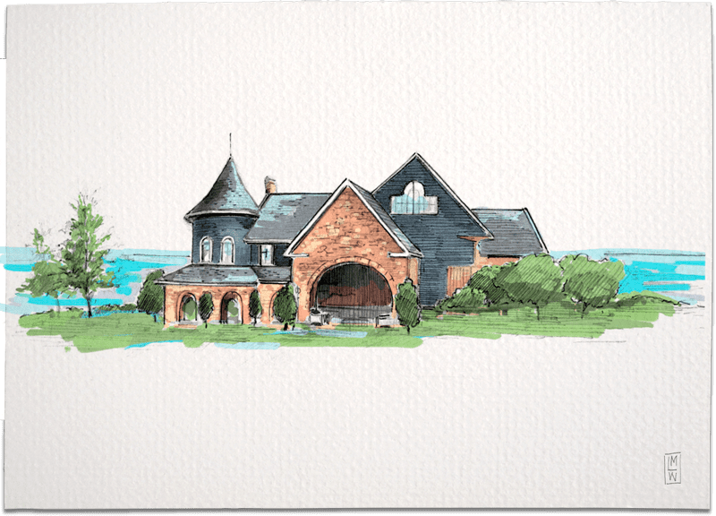 Stonebridge Ranch Country Club – McKinney, Texas Creative Wedding Illustration